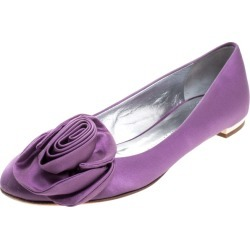 Guissepe Zanotti Purple Satin Rose Detail Ballet Flats Size 37.5 found on Bargain Bro Philippines from The Luxury Closet for $198.00