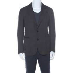 Berluti Brown Regular Fit Wool and Silk Blend Blazer L found on MODAPINS from The Luxury Closet for USD $1319.89