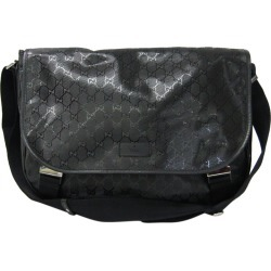 Gucci Black GG Imprime Canvas Messenger Bag found on MODAPINS from The Luxury Closet for USD $737.00