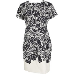 Dolce and Gabbana Monochrome Lace Print Short Sleeve Sheath Dress M found on Bargain Bro Philippines from The Luxury Closet for $1830.00