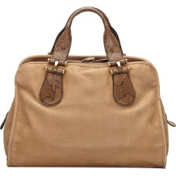 Gucci Brown Nubuck Leather Twice Satchel