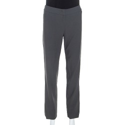 Armani Collezioni Grey Wool High Waist Tailored Trousers S found on MODAPINS from The Luxury Closet for USD $131.03