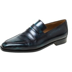 Berluti Black Leather Penny Loafers Size 42.5 found on MODAPINS from The Luxury Closet for USD $1078.20