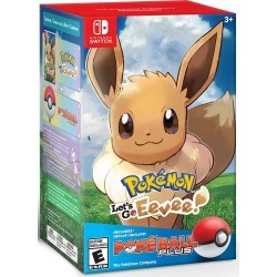 Nintendo Switch Game Pokemon: Let's Go, Eevee! + Poke Ball Plus Pack (Game: English Only)