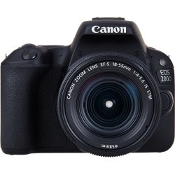 Canon EOS 200D Kit with EF-S 18-55mm f/4-5.6 IS STM Lens Digital SLR Cameras - Black found on Bargain Bro India from eGlobal Central UK for $442.96