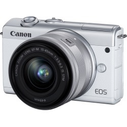 Canon EOS M200 Mirrorless Digital Camera with 15-45mm Lens - White