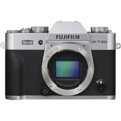 Fujifilm X-T20 Digital Cameras Silver Body with XF 27mm F2.8 Black Lens