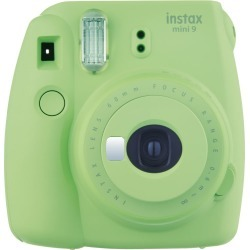 Fujifilm instax mini 9 Instant Camera - Lime Green with mini film Photo Paper 10 Packs