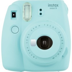 Fujifilm instax mini 9 Instant Camera - Ice Blue with mini film Photo Paper 10 Packs