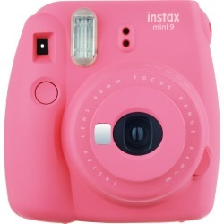 Fujifilm instax mini 9 Instant Camera - Flamingo Pink with mini film Photo Paper 10 Packs