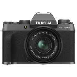 Fujifilm X-T200 Digital Cameras with XC 15-45mm f/3.5-5.6 OIS PZ Lens - Dark Silver found on Bargain Bro India from eGlobal Central UK for $799.97