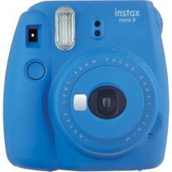 Fujifilm instax mini 9 Instant Camera - Cobalt Blue with mini film Photo Paper 10 Packs