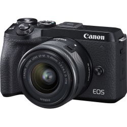 Canon EOS M6 Mark II Mirrorless Digital Camera with EF-M 15-45mm Camera Kit - Black