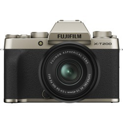 Fujifilm X-T200 Digital Cameras with XC 15-45mm f/3.5-5.6 OIS PZ Lens - Champagne Gold found on Bargain Bro India from eGlobal Central UK for $814.79