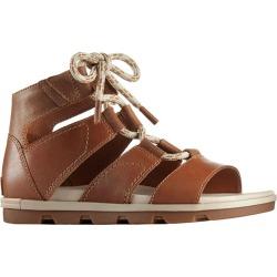 Sorel Women's Torpeda Lace II Casual Sandals Camel Brown