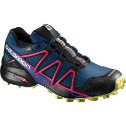 Salomon Women's Speedcross 4 GTX Trail Running Shoes Poseidon/Lime