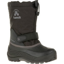 Kamik Youth Waterbug5 Snow Boots Black/Charcoal