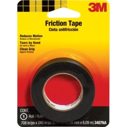 3M 0.708 in. W x 240 in. L Black Cotton Cloth Friction Tape found on Bargain Bro India from acehardware.com for $4.59