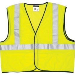 Safety Works Reflective Polyester Safety Vest Yellow L 1 pk