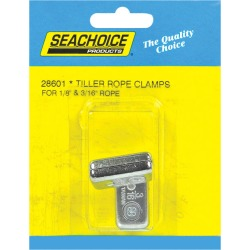 Seachoice Chrome-Plated Zinc 1-1/4 in. L x 11/16 in. W Tiller Rope Clamps 2 pk