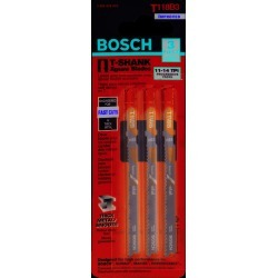 Bosch 3 in. High Carbon Steel T-Shank Wavy set and milled Jig Saw Blade 14 TPI 3 pk found on Bargain Bro India from acehardware.com for $6.59