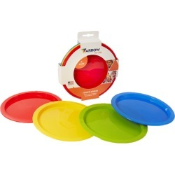 Arrow Home Products For Kids Assorted Plastic Round Plate 4 pk