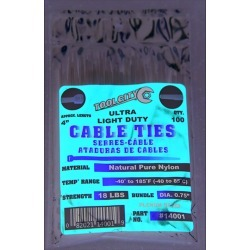 Tool City 4 in. L White Cable Tie 100 pk found on Bargain Bro India from acehardware.com for $1.99