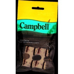 Campbell Chain Zinc-Plated Nickel Rope Clamps