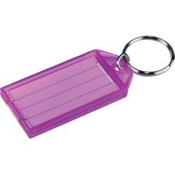 Hillman Metal/Plastic Assorted Labeling/ID Key Ring