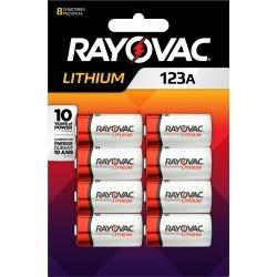 Rayovac Lithium Ion 123A 3 volt Camera Battery 123A 8 pk