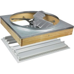 Air Vent 24 in. H x 27 in. W x 27 in. L Silver Whole House Fan found on Bargain Bro India from acehardware.com for $249.99
