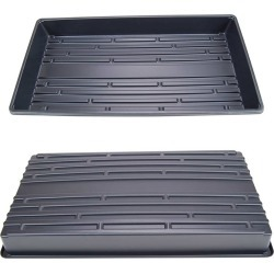 1 Black Plant Growing Tray 20x10 No Holes - Reusable Drip Tray