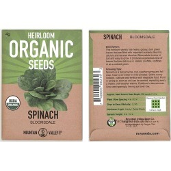 Seeds: Organic Bloomsdale Spinach - Long Standing - 4 g - Heirloom