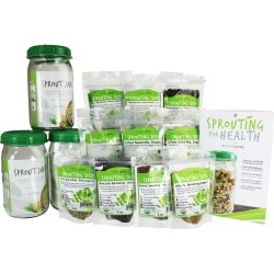 3 Jar Organic Sprouting Kit - 2.5 Lbs of Sprout Seeds, 3 Sprouter Jars found on Bargain Bro Philippines from true leaf market for $76.35