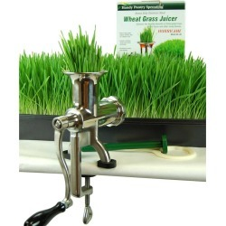 Hurricane Stainless Manual Wheatgrass Juicer - Wheat Grass Juice
