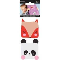 Sandylion 2 pk Embroidered Stickers - Fox & Panda