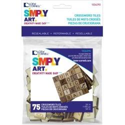 "Loew Cornell Simply Art 75 pk 0.75"" Wood Crossword Tiles"