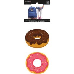 Sandylion 2 pk Embroidered Stickers - Donuts