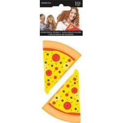 Sandylion 2 pk Embroidered Stickers - Pizza