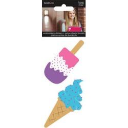 Sandylion 2 pk Embroidered Stickers - Ice Creams