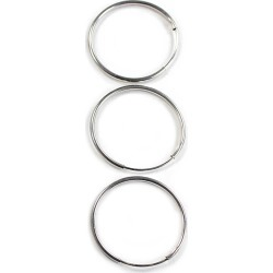 Blue Moon Findings Ear Hoop Metal Endless 25mm Silver