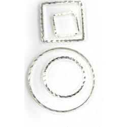 Blue Moon Findings Connector Metal Multi Pack Cut Thin Shiny Silver