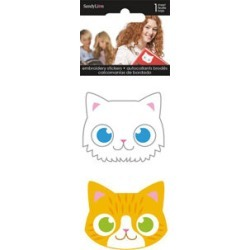 Sandylion 2 pk Embroidered Stickers - Cats