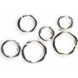 Blue Moon Findings Jump Ring Metal 5, 6 & 8mm Silver