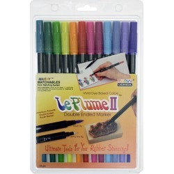 Marvy Uchida Le Plume II Pack of 12 Watercolor Marker Set - Bright found on Bargain Bro Philippines from JOANN Stores for $26.99