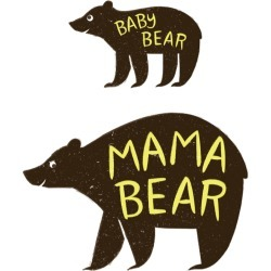 Cricut Large Iron - On Design - Mama & Baby Bear