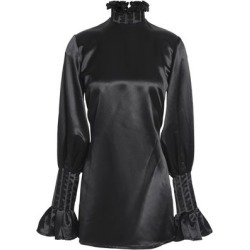 Beaufille Woman Ruffle-trimmed Satin-crepe Blouse Black Size 2 found on MODAPINS from theoutnet.com UK for USD $226.60