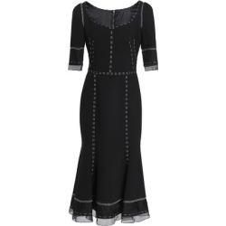 Dolce & Gabbana Woman Organza-paneled Wool-blend Midi Dress Black Size 40 found on MODAPINS from theoutnet.com UK for USD $1806.35