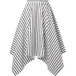 Adam Lippes Woman Asymmetric Striped Cotton-poplin Midi Skirt White Size 8 found on MODAPINS from theoutnet.com UK for USD $352.81