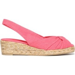 Castañer Woman Twisted Canvas Espadrille Wedge Sandals Pink Size 38